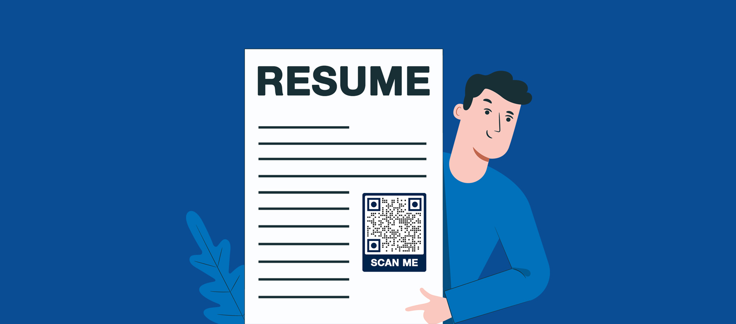 qr code for word document resume