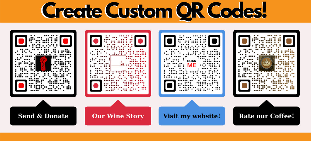 url to qr code customizable