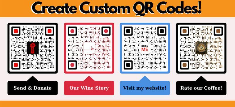 qr codes on bottles visual