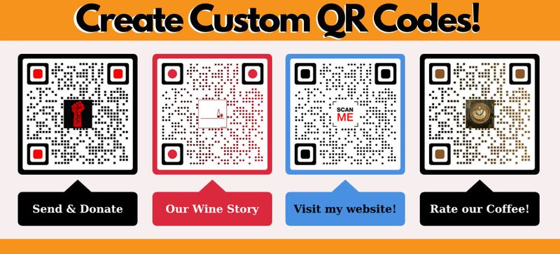 url to qr code customizable