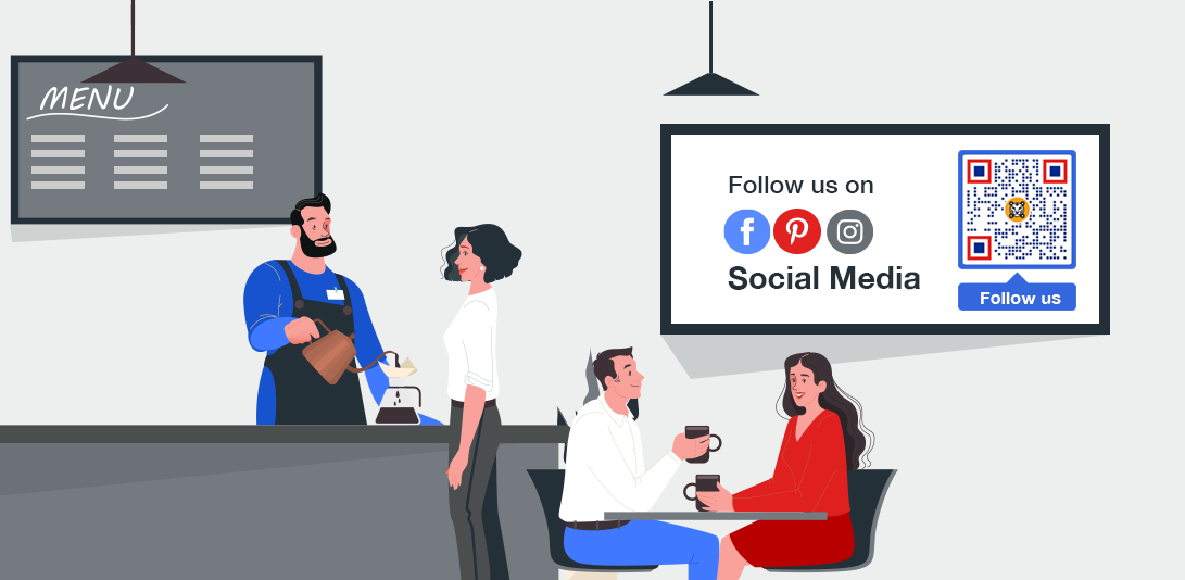 qr code on social media post