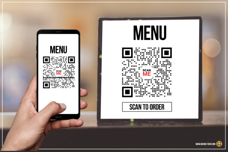 menu qr code call to action