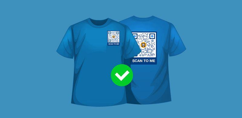 qr code pattern shirt