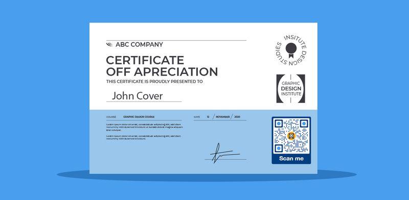 certificate qr code canva