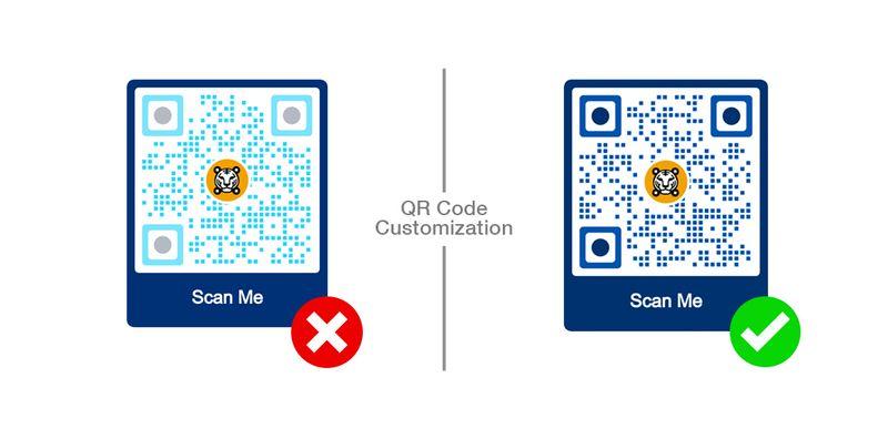 qr code contrast
