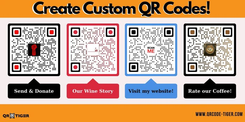 visual qr codes on poster
