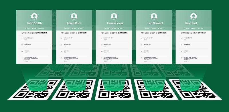 bulk qr codes vcard