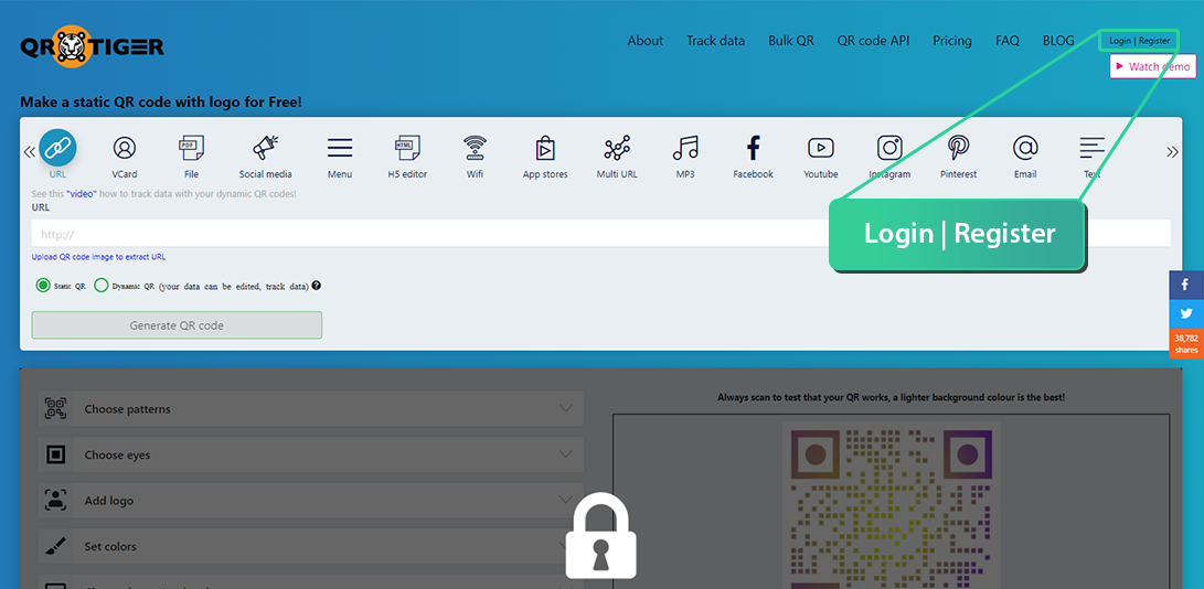 bulk qr code generator with logo free