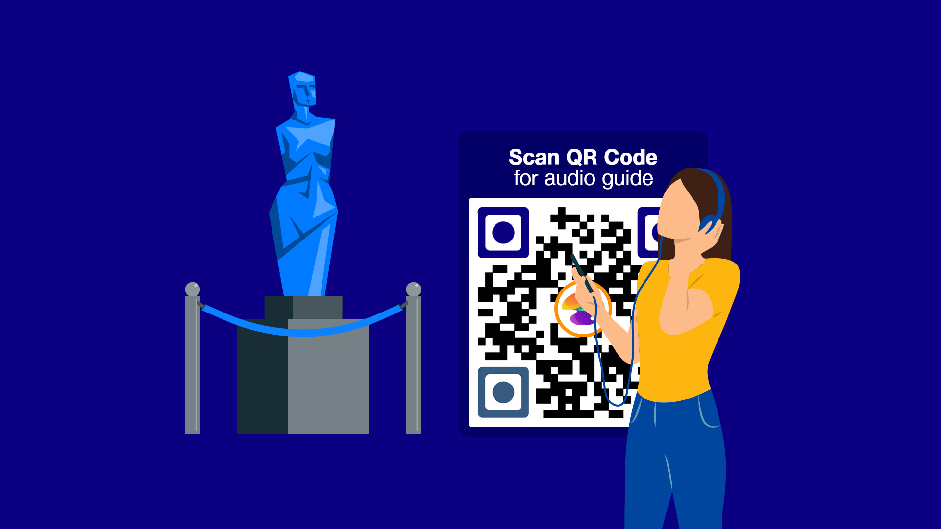 qr code for audio guide