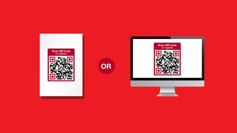 qr code registration form