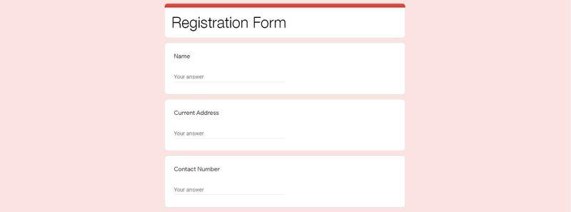 qr code registration template