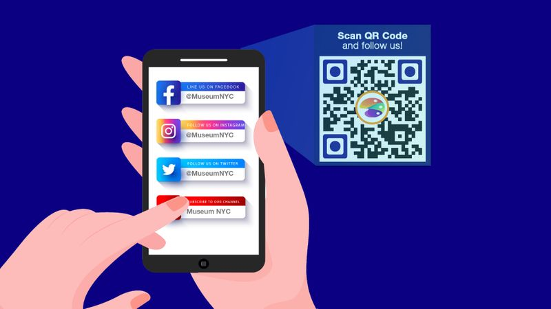 qr code for social media page