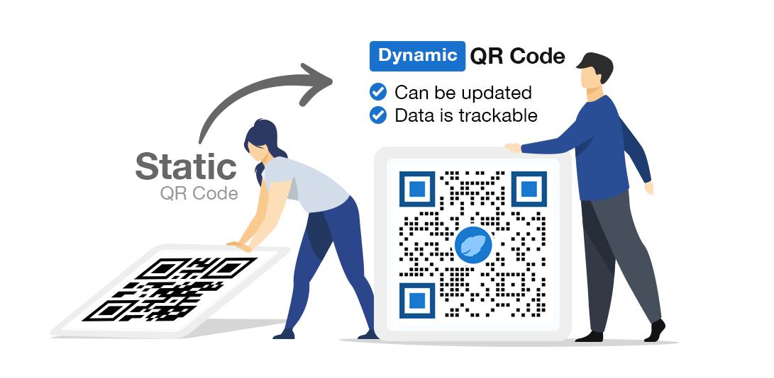 use dynamic qr code