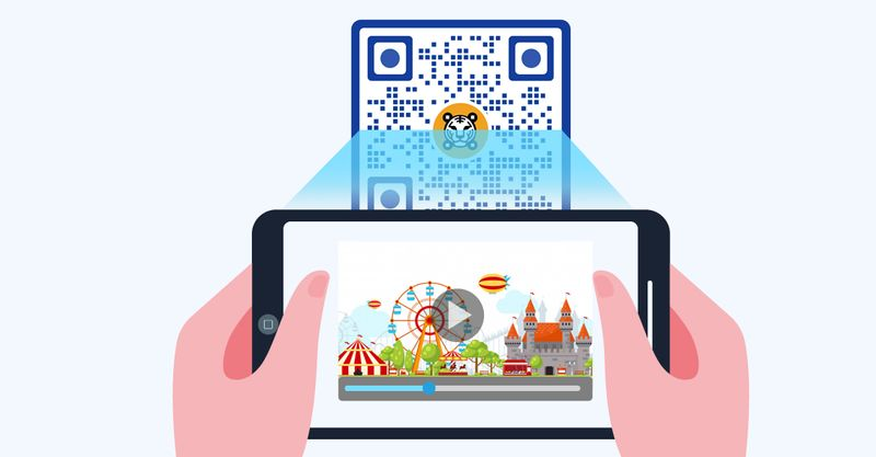 video qr code for carnival rides