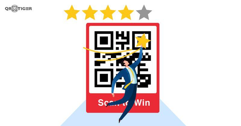 social media qr code for contest