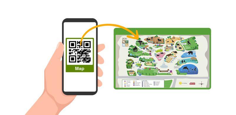 qr codes amusement maps