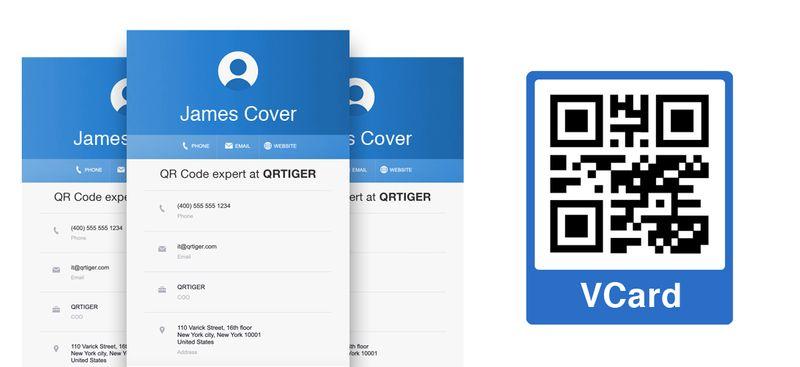 vcard qr code sticker