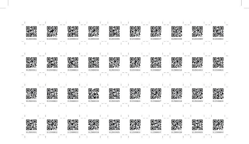 bulk qr code serial number