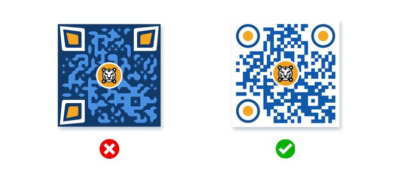 over customize color qr code contrast